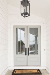 Elegant front door design ideas for your house 24