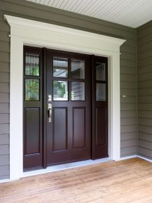 Elegant front door design ideas for your house 32