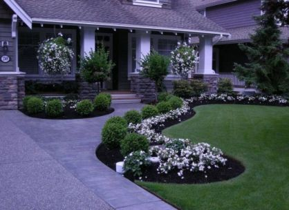 Impressive small front yard landscaping ideas 39