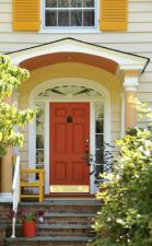 Most stylish farmhouse front door design ideas 11