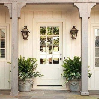Most stylish farmhouse front door design ideas 16