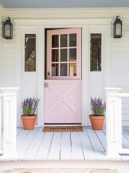 Most stylish farmhouse front door design ideas 25
