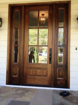 Most stylish farmhouse front door design ideas 28