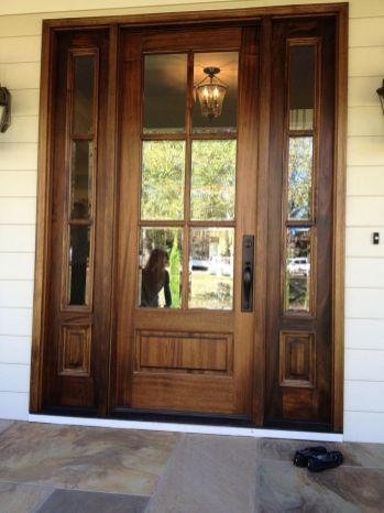 Most stylish farmhouse front door design ideas 28