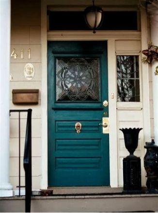 Most stylish farmhouse front door design ideas 31