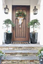 Most stylish farmhouse front door design ideas 32