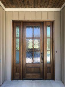 Most stylish farmhouse front door design ideas 40