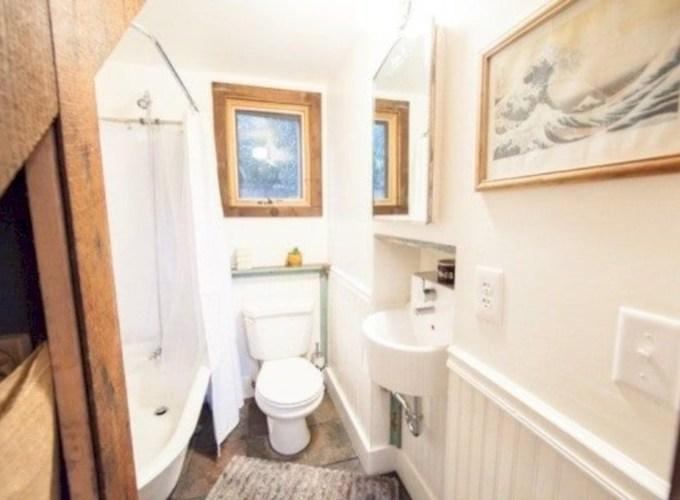 Adorable modern rustic bathroom ideas 33