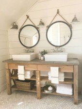 Adorable modern rustic bathroom ideas 40