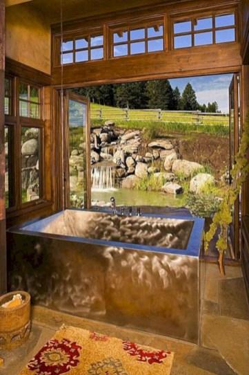 Adorable modern rustic bathroom ideas 42