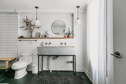 Affordable modern small bathroom vanities ideas 05