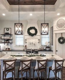Amazing farmhouse kitchen decor ideas for inspiration 11