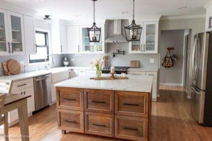 Amazing farmhouse kitchen decor ideas for inspiration 29