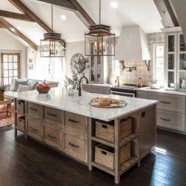 Amazing farmhouse kitchen decor ideas for inspiration 36