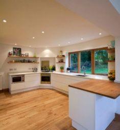 Amazing oak cabinet kitchen makeover ideas 21