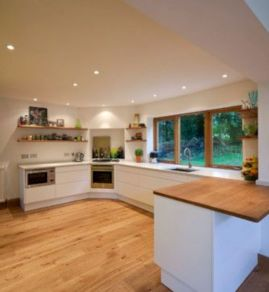 Amazing oak cabinet kitchen makeover ideas 21