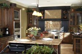 Amazing oak cabinet kitchen makeover ideas 37