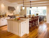 Comfy antique white kitchen cabinets ideas 03