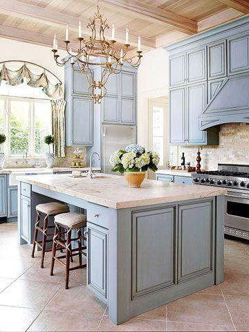 Comfy antique white kitchen cabinets ideas 21
