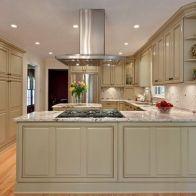 Comfy antique white kitchen cabinets ideas 33