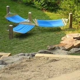 Comfy backyard hammock decor ideas 15