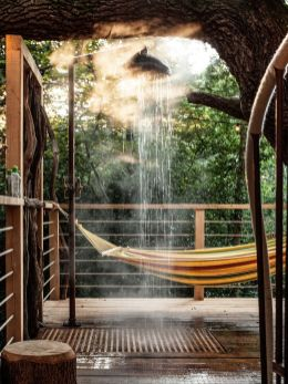 Comfy backyard hammock decor ideas 31