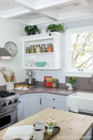 Creative diy easy kitchen makeovers 14