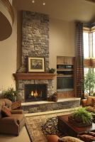 Cute rustic fireplace design ideas 03