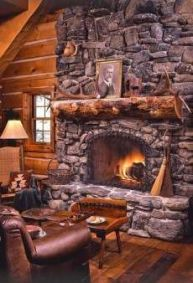 Cute rustic fireplace design ideas 11