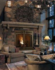 Cute rustic fireplace design ideas 19