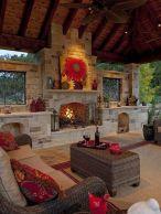 Cute rustic fireplace design ideas 34