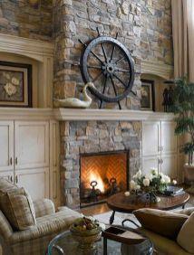 Cute rustic fireplace design ideas 37