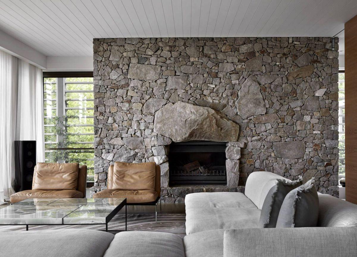 Cute rustic fireplace design ideas 41