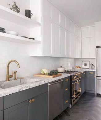 Easy grey and white kitchen backsplash ideas 16