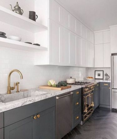 Easy grey and white kitchen backsplash ideas 16