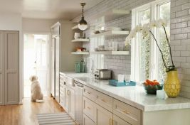 Easy grey and white kitchen backsplash ideas 26