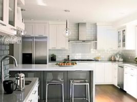 Easy grey and white kitchen backsplash ideas 28