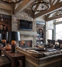 Easy rustic living room design ideas 12