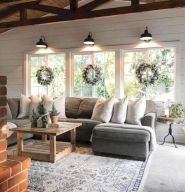 Easy rustic living room design ideas 35