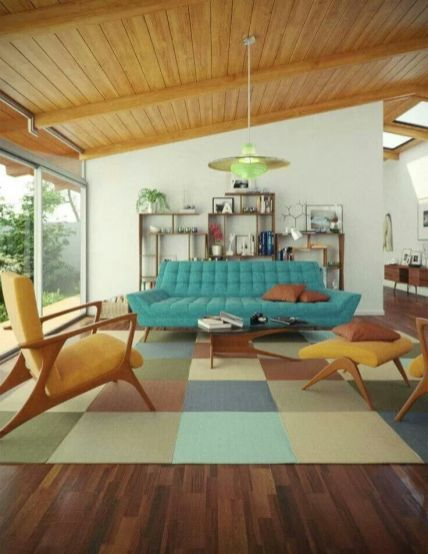 Elegant mid century living room furniture ideas 09