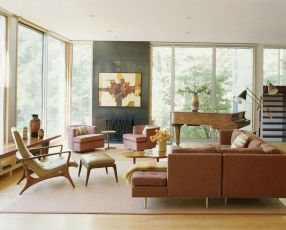 Elegant mid century living room furniture ideas 14