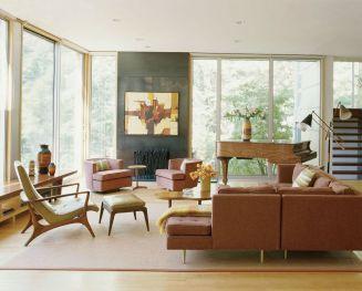 Elegant mid century living room furniture ideas 14