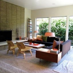 Elegant mid century living room furniture ideas 21