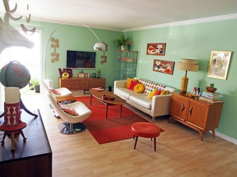 Elegant mid century living room furniture ideas 23
