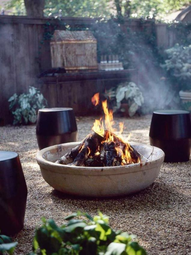 Fancy fire pit design ideas for your backyard home 45