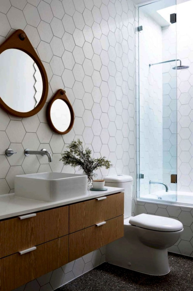 Fantastic mid century modern bathroom vanity ideas 02