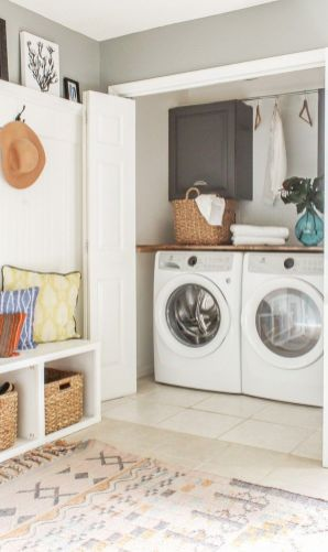 Inspiring small laundry room ideas 20
