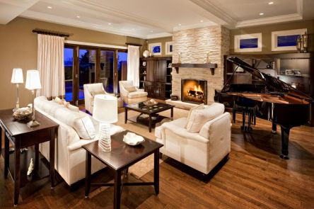 Relaxing formal living room decor ideas 32