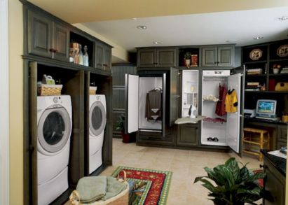 Stylish cabinets for laundry room 06