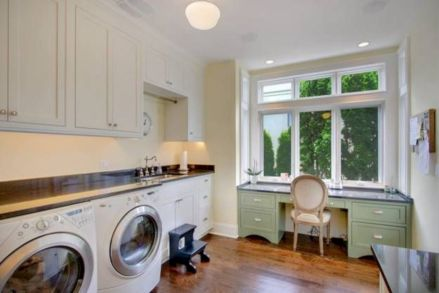 Stylish cabinets for laundry room 08
